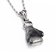 Kalen® Fashion Jewelry 316L Stainless Steel Power Boxing Big Fist Pendant Necklace For Men
