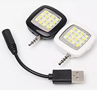 Смартфон светодиодной вспышкой rk05 регулируемый анти-красный глаз / синхронизации вспышки / заполняющий свет вручную контролирующего для