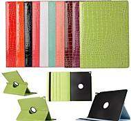 The Crocodile Grain Rotate 360 Degrees 100% Polyurethane Leather Smart Awaken  for iPad Pro