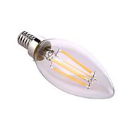 Недорогие -ywxlight® e12 светодиодные свечи a60 (a19) 4 cob 640 lm теплый белый натуральный белый декоративный AC 110-130 v