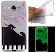 For Samsung Galaxy Case Glow in the Dark / Pattern Case Back Cover Case Cat TPU Samsung J3 / J1 Ace / Grand Prime / Grand Neo / Core Prime