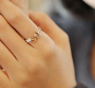 Femme Bagues Affirmées Ajustable Ouvert bijoux de fantaisie Imitation Diamant Alliage Note de Musique Bijoux Pour Soirée Quotidien