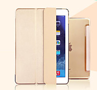 cheap -Case For iPad Mini 4 with Stand Auto Sleep / Wake Transparent Origami Full Body Cases Solid Color PU Leather for iPad Mini 4