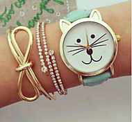 Women Watches Kitty Watch Cat Watch Vintage Leather Watch Jewelry Handmade Bracelet Wrist Watch Cool Watches Unique Watches Fashion Watch Strap Watch