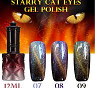 1шт Ana звездное кошачьи глаза цвета гель 12ml 12colors длительный лак для ногтей 7-9
