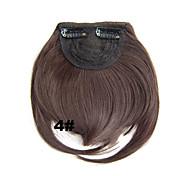 Недорогие -Короткие Искусственные волосы Наращивание волос Прямой На клипсе 1шт Other Повседневные Высокое качество Жен. Синтетические экстензии