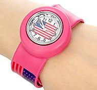 Kids US Pattern Stretch Band Mini Quartz Watch Cool Watches Unique Watches Strap Watch