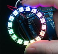 Недорогие -ws2812 5050 RGB светодиодный 16-круглый доска развития лампа - черный
