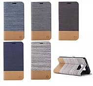Недорогие -Кейс для Назначение SSamsung Galaxy Кейс для  Samsung Galaxy Бумажник для карт Кошелек со стендом Флип Чехол Полосы / волосы Кожа PU для