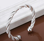 cheap -Women's Bangles Cuff Bracelet Unique Design Open Fashion Adjustable Silver Plated Alloy Others Weave Twist Circle Jewelry Wedding Party