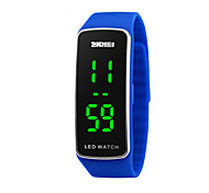 cheap -Digital Sport Watch Calendar / date / day Sport Watch LED Silicone Band Fashion Cool Black Blue Red Purple