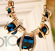 Women's Strands Necklaces Crystal Crystal Rhinestone Simulated Diamond Alloy Fashion Green Blue Jewelry Party Daily 1pc