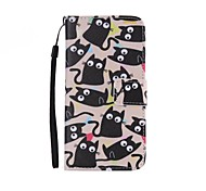 kitten Painted PU Phone Case for Galaxy Grand Prime G530/Xcover 3 G388F/Core Prime G360/J7/J5/J1
