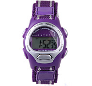 cheap -Fashion Purple Nylon Belt Child Electronic Watch Cool Watches Unique Watches
