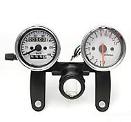 Motorcycle Odometer Tachometer Speedometer Gauge with Black Bracket