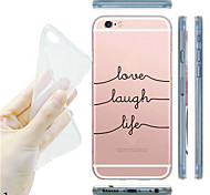 For iPhone 7 MAYCARI®Black and White Soft Transparent TPU Back Case for iPhone5/iPhone 5S