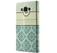Недорогие -хорошее качество искусственная кожа флип мобильный телефон случае кобура для Samsung Galaxy A3 / A5 / а7