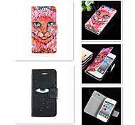 ein Auge für ein Augen-Muster PU-Leder Ganzkörper-Case für iPhone 4 / 4S