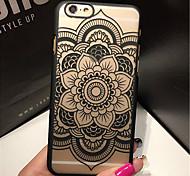 Недорогие -Ретро цветочный узор рельеф ажурные печать материал ПК телефон случае для iphone 6с 6 плюс