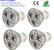 3W GU10 LED Spotlight R63 3 High Power LED 200-250 lm Warm White Cold White 3000/6000 K Decorative AC 220-240 AC 110-130 V