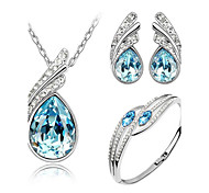 cheap -Women's Wedding Party Birthday Engagement Gift Daily Casual Crystal Earrings Necklaces Bracelets & Bangles