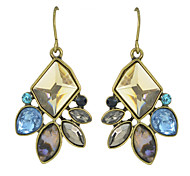 New Coming Antique Design Colorful Rhinestone Drop Earrings