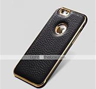 специальная металлическая конструкция бампера рамка из натуральной кожи задняя крышка для iphone 6 плюс (разных цветов)