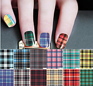 New Design Grid Pattern Decal Nail Art Henna Stickers Makeup Tool Water sticker Nail Art Decals Water Transfer Sticker