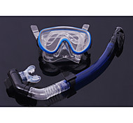 cheap -Full Dry Snorkel Goggles Breathing Tube Suit Snorkeling Equipment Pvc Glass