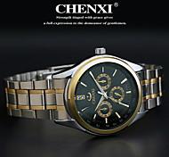 cheap -CHENXI® Men's Quartz Japanese Quartz Wrist Watch Casual Watch Stainless Steel Band Charm Silver