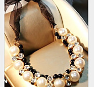 cheap -Women's Pearl Imitation Diamond Pearl Necklace Statement Necklace - Luxury White Necklace For Party
