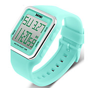 SKMEI® Women's Candy Color Silicone Square LCD Digital Sports Strap Watch Cool Watches Unique Watches
