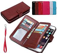 искусственная кожа 2 в 1 съемными случаях телефонов и задняя крышка защитную оболочку с бумажник 9 слот для карт iPhone 6с плюс