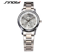cheap -SINOBI Women's Fashion Watch Quartz Calendar / date / day Water Resistant / Water Proof Alloy Band Elegant Silver