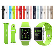 abordables -Ver Banda para Apple Watch Series 3 / 2 / 1 Apple Correa Deportiva Silicona Correa de Muñeca