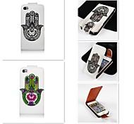 die Handfläche patten up-down wiederum über PU-Leder Ganzkörper-Case für iPhone 4 / 4s