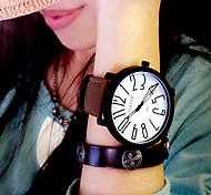baratos -Mulheres Quartzo Relógio Casual Couro Banda Elegant Fashion Preta Marrom