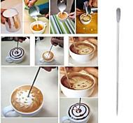 Недорогие -кофе латте искусства иглы из нержавеющей стали крюк фантазии стежок украшения крючок ручка искусства инструмент кофе со взбитыми сливками