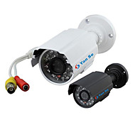 YanSe® 1000TVL 3.6mm Metal aluminum D/N CCTV Camera IR 24 LED Security Waterproof Wired 6624CF