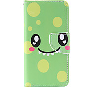 Green Smile Painted PU Phone Case for Samsung Galaxy A3(2016)/A5(2016)/A7(2016)