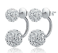 cheap -Women's Stud Earrings Synthetic Diamond Classic Fashion Sterling Silver Crystal Silver Imitation Diamond Cross Jewelry Wedding Party Daily