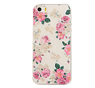 cheap -Case For iPhone 5 Apple iPhone 5 Case Pattern Back Cover Flower Soft TPU for iPhone SE/5s iPhone 5