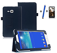 cheap -Fashion Top Quality Smart PU Leather Cover For Samsung Galaxy Tab 3 Lite 7.0 T110 Tablet Case+Free Screen Protector+ Pen