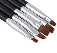 Недорогие -5pcs / комплект новый красота ногтей салон акриловый гель уф салон ручка плоская щетка комплект усеивание инструмент для украшения