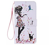 The bird girl Painted PU Phone Case for ipod touch5/6 iPod Cases/Covers