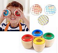 1шт ребенок образовательные классические игрушки красочные деревянные Магия Калейдоскоп призмы