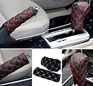 cheap -ZIQIAO Hand Brake Case & Gear Shift Case Car Interior Accessory 2PCS/Set