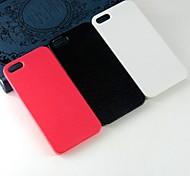 Недорогие -Для Кейс для iPhone 5 С узором Кейс для Задняя крышка Кейс для Один цвет Твердый PC iPhone SE/5s/5