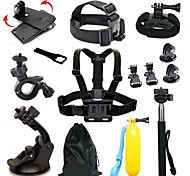 Chest Harness Front Mounting Anti-Fog Insert Clip Case/Bags Floating Buoy Suction Cup Wrenches Adhesive Mounts Hand Straps Straps Hand