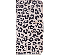 For Samsung Galaxy S7 Edge Card Holder / Wallet / with Stand / Flip Case Full Body Case Leopard Print PU Leather Samsung S7 edge